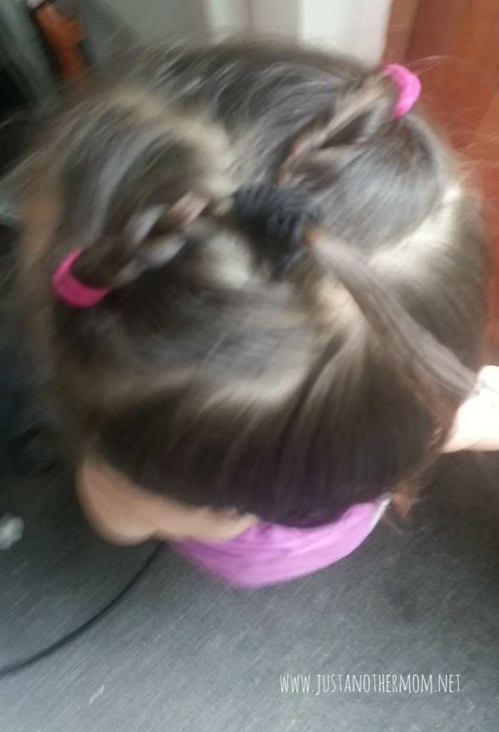 My own attempt at an easy toddler hairstyle. If you're looking for more ideas, I've got over 20 of them posted on my blog!