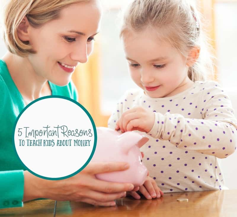 Learning about money is important and one of the more important things to teach to kids. Here are just five reasons why it's important to teach kids about money.