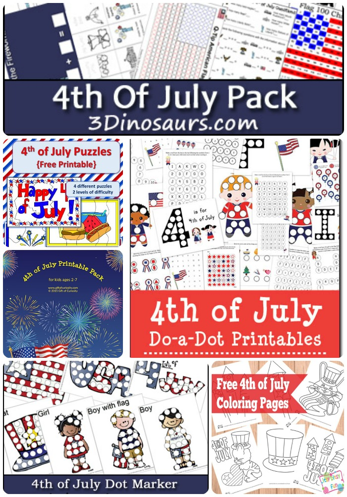 fourth of july for kids printables