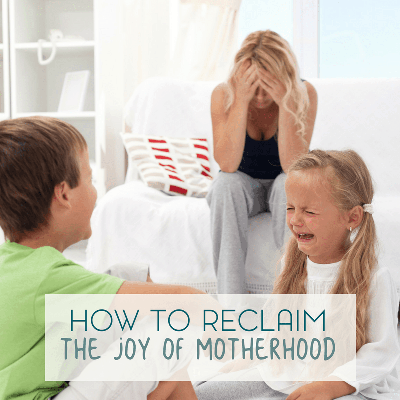 Being a mom is stressful. And it's okay to acknowlede that. Here are a few ways to reclaim the joy of being a mom.