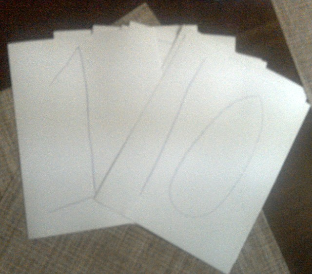 Numbers for our indoor hopscotch game