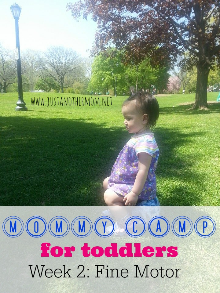 Week 2 of Mommy Camp for Toddlers is all about fine motor skills. Come join us for another week of fun.