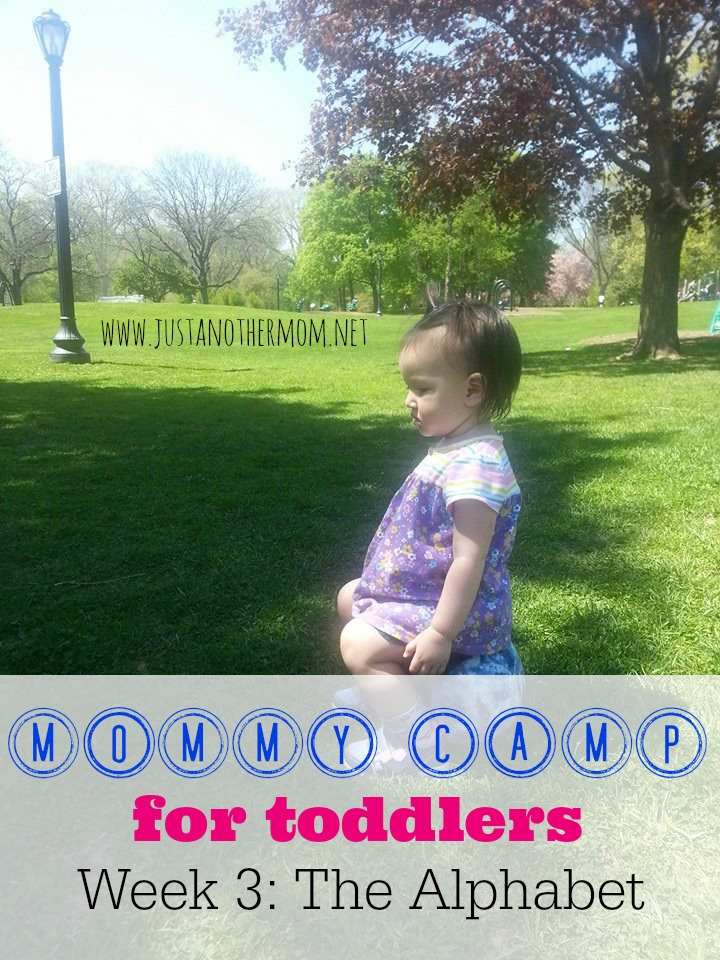 In Week 3 of Mommy Camp for Toddlers, we're focusing on the alphabet.