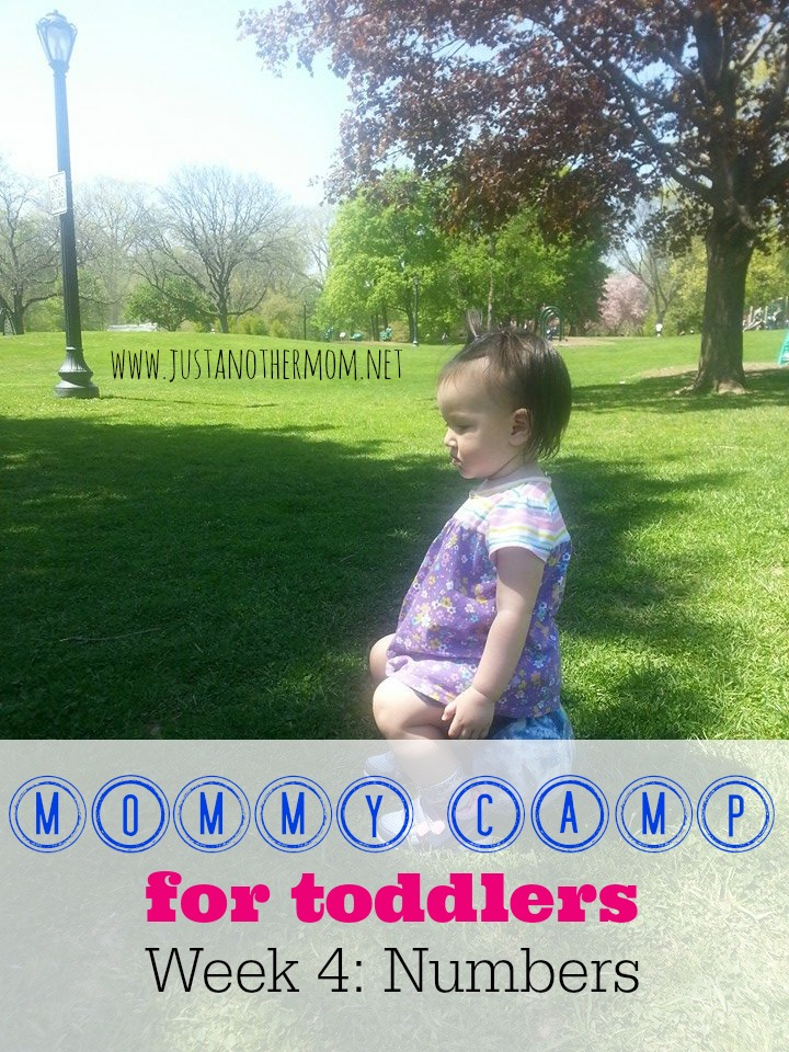 This week in Mommy Camp for Toddlers, we're talking about learning numbers!