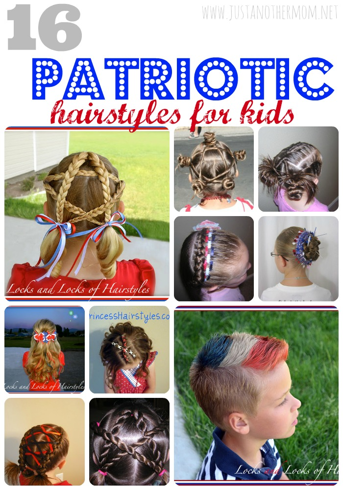 Wanting to spread a little red, white, and blue for 4th of July? Check out this collection of patriotic hairstyles for kids.