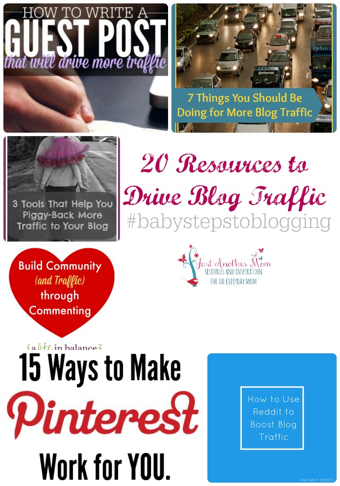 This week on Baby Steps to Blogging, I'm sharing 20 resources to drive blog traffic.