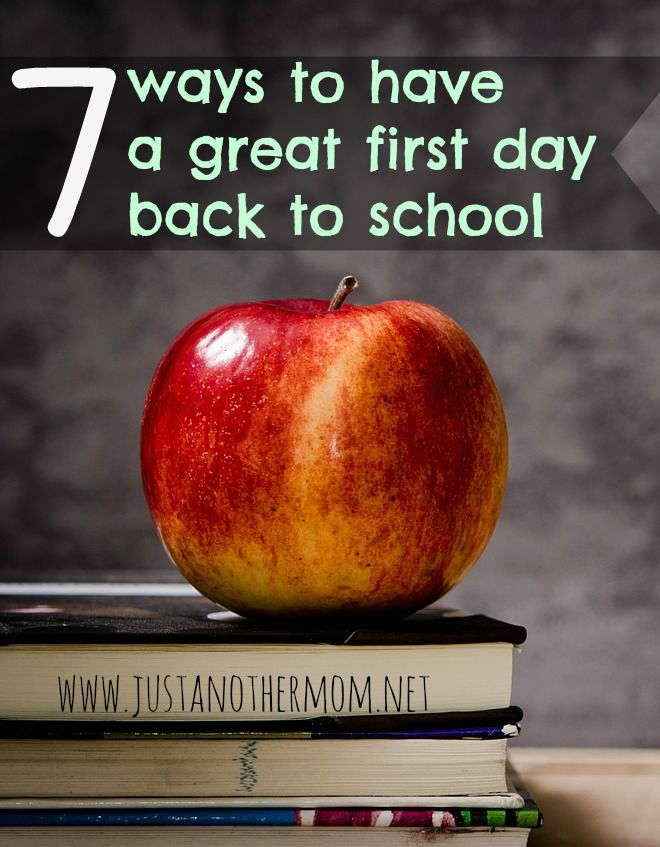 The first day back to school is filled with mixed emotions. Here are 7 ways to have a great first day back to school so your child can hopefully have an awesome school year.
