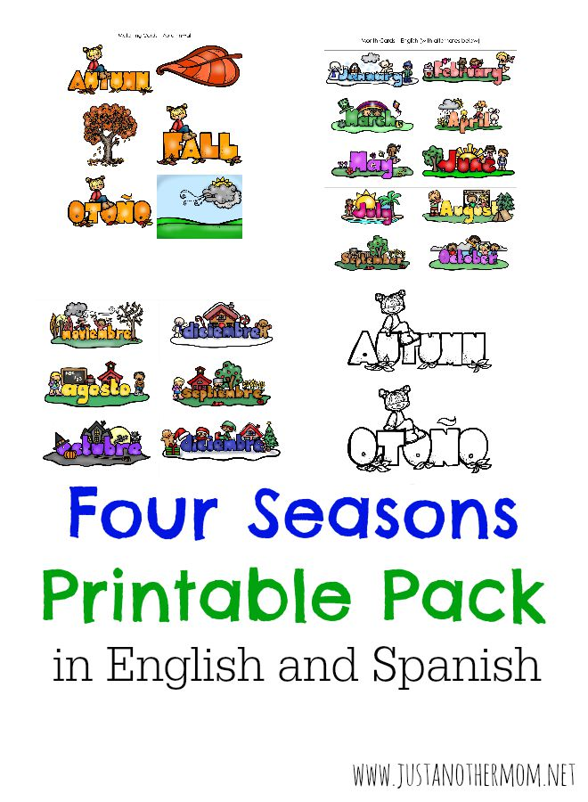 Are you teaching the four seasons or have plans to cover them? Take a look at this four seaons printable pack available in English and Spanish!