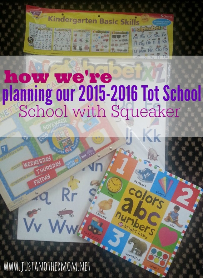 As we take our first dip into homeschooling, informal as it is, here's how I'm planning our year of tot school.