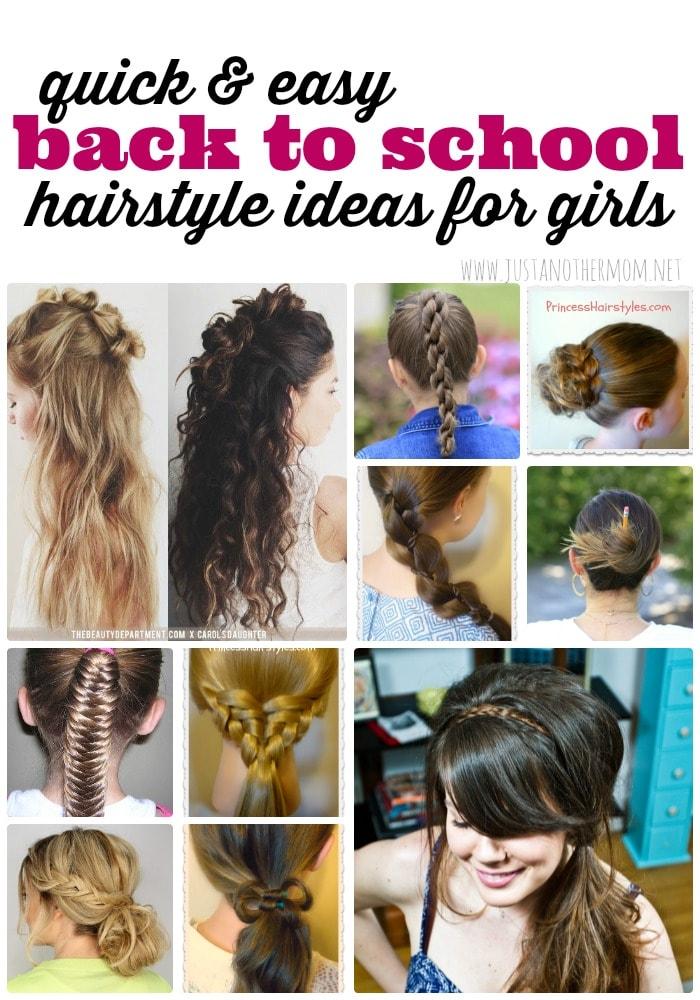 Pleasing Quick And Easy Hairstyles For Girls Short Hairstyles Gunalazisus