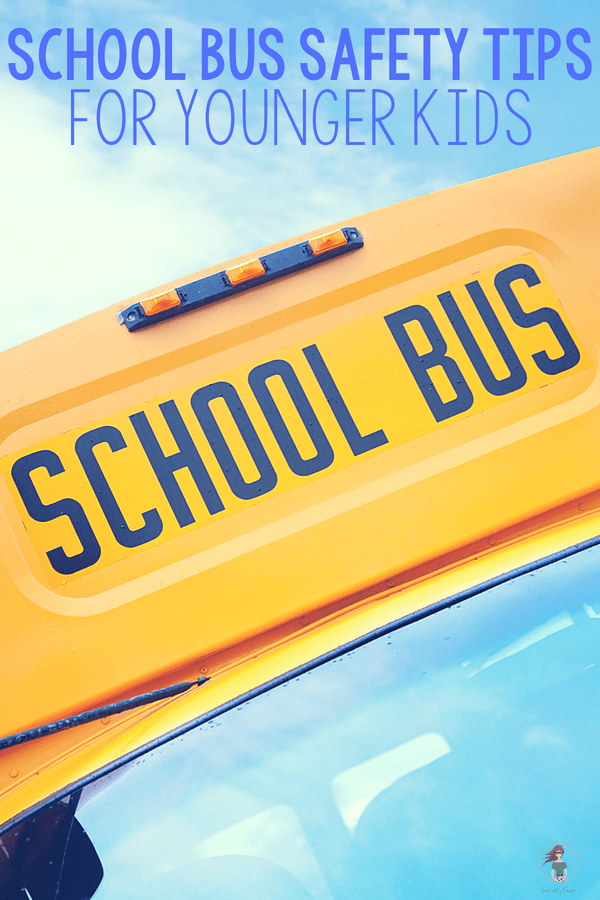 Is your kindergartener riding the bus this year? Check out these school bus safety tips for younger kids!