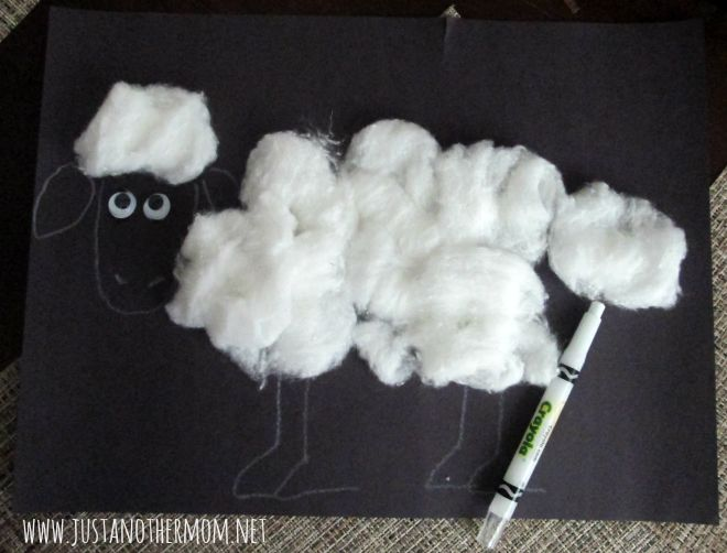 Easy Shaun the Sheep craft