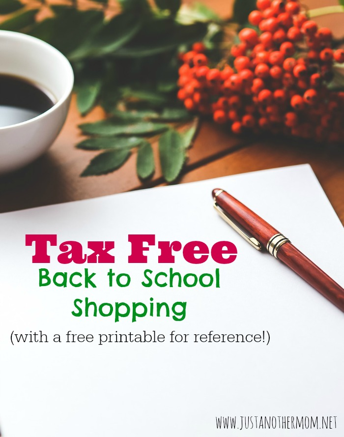 Take advantage of some great tax free back to school shopping opportunities, depending on what state you live in or near. Check out the list of states and grab a free printable list.