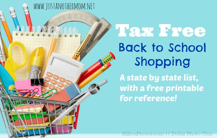 If you're looking to take advantage of some tax free shopping for back to school, I'm sharing a free printable to help you get started.