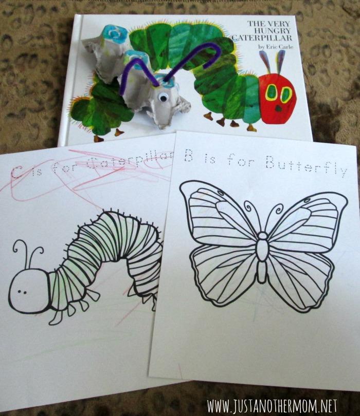 the very hungry caterpillar mini tot school unit