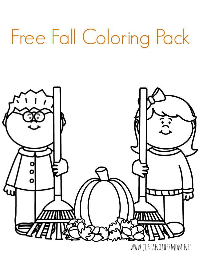 Just in time for autumn/fall, come download a free fall coloring pack from Just Another Mom.