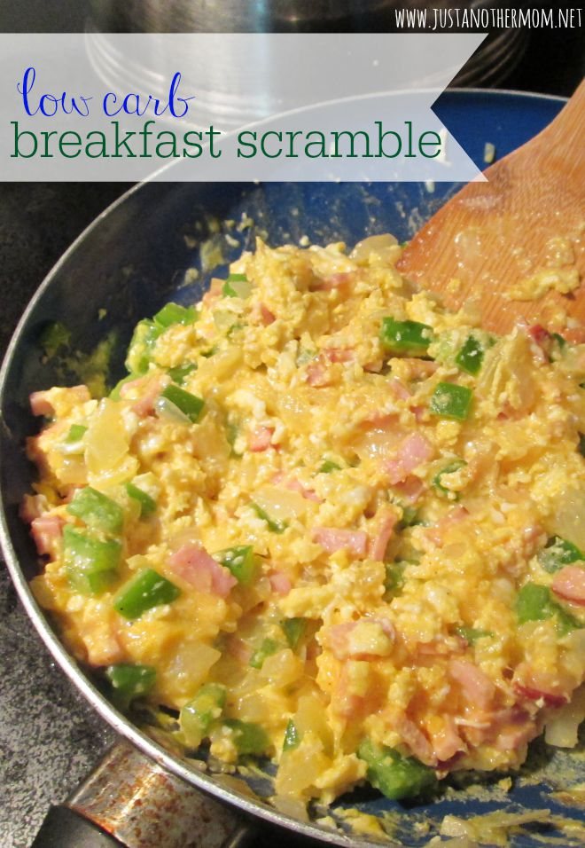 Looking for a delicious and filling breakfast option? Try this loaded low carb breakfast scramble.