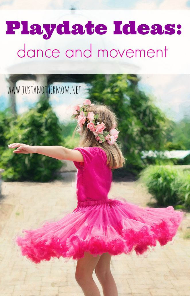 One of the fun playdate ideas that I've thought about for my toddler is a dance and movement playdate. This idea could apply to all ages, of course.