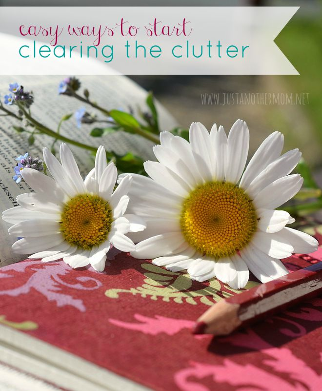 Does clutter affect your life? Here are easy ways to start clearing the clutter.