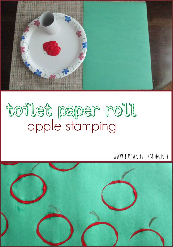Celebrate fall or use this simple toilet paper roll apple stamping art project in a theme about Johnny Appleseed.