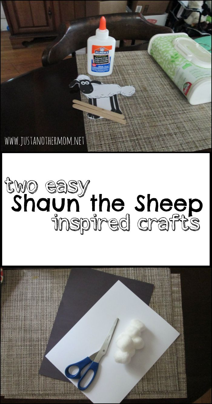 These two easy Shaun the Sheep inspired crafts are perfect for the Shaun the Sheep fan in your home!