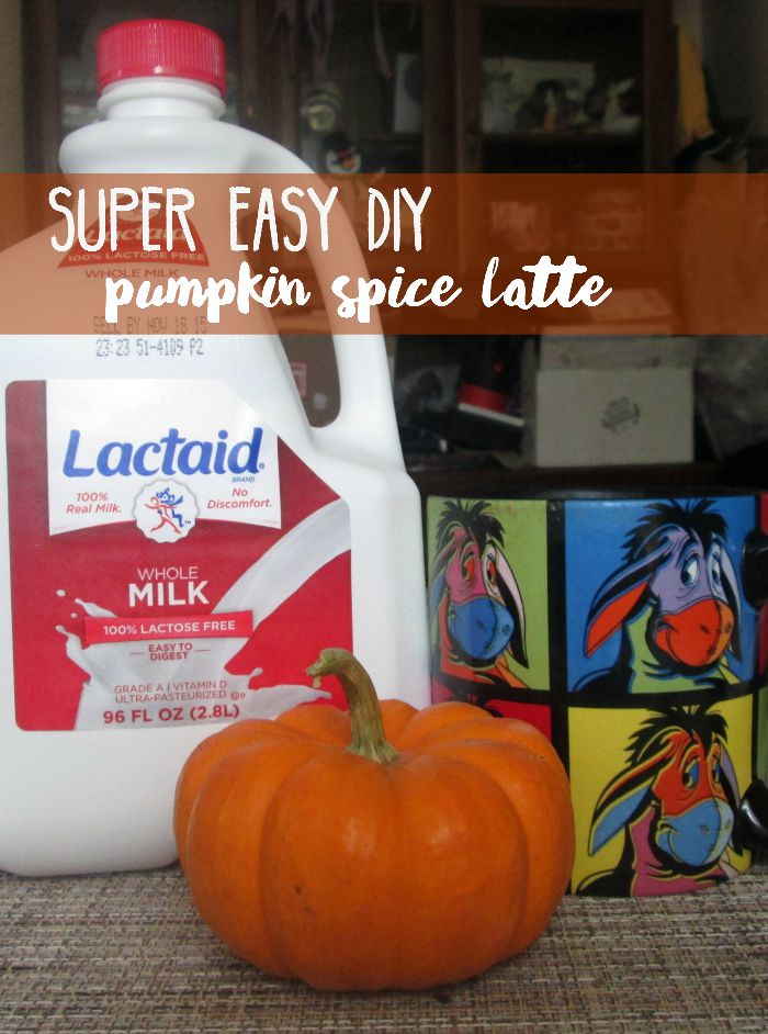 Enjoy a fall favorite in the comfort of your own home with #NoMoreDairyEnvy with this DIY pumpkin spice latte. #ad