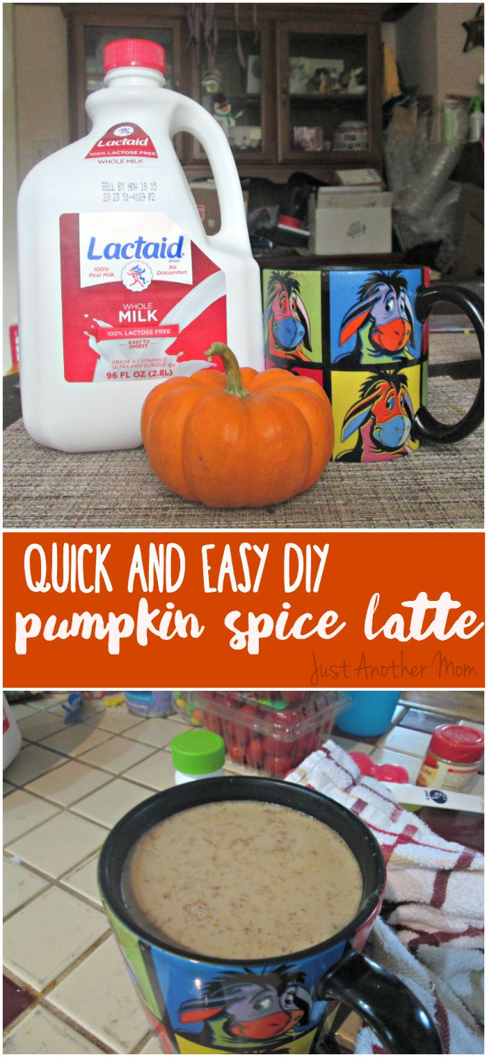 Enjoy this fall favorite at home, anytime of the year, with this super easy DIY pumpkin spice latte recipe. #NoMoreDairyEnvy (ad)