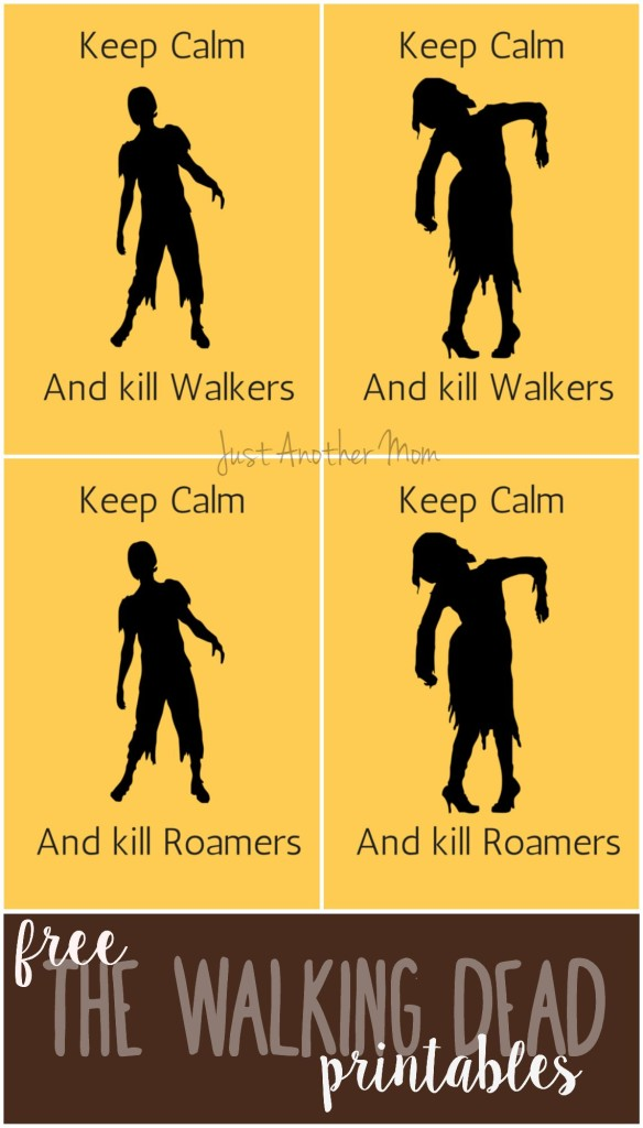 Free The Walking Dead printables from Just Another Mom. Perfect for your Walking Dead viewing parties or Halloween.