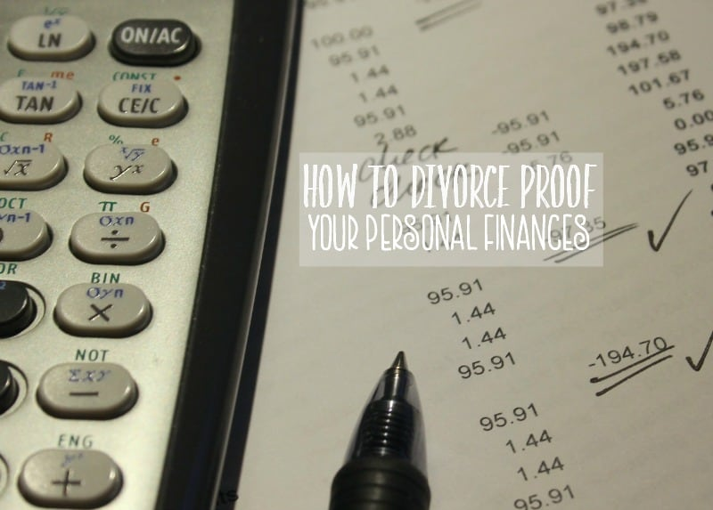 Going through a divorce can be a difficult and trying time. And though it may be the last thing on your mind, here are a few tips for how to divorce proof your personal finances.