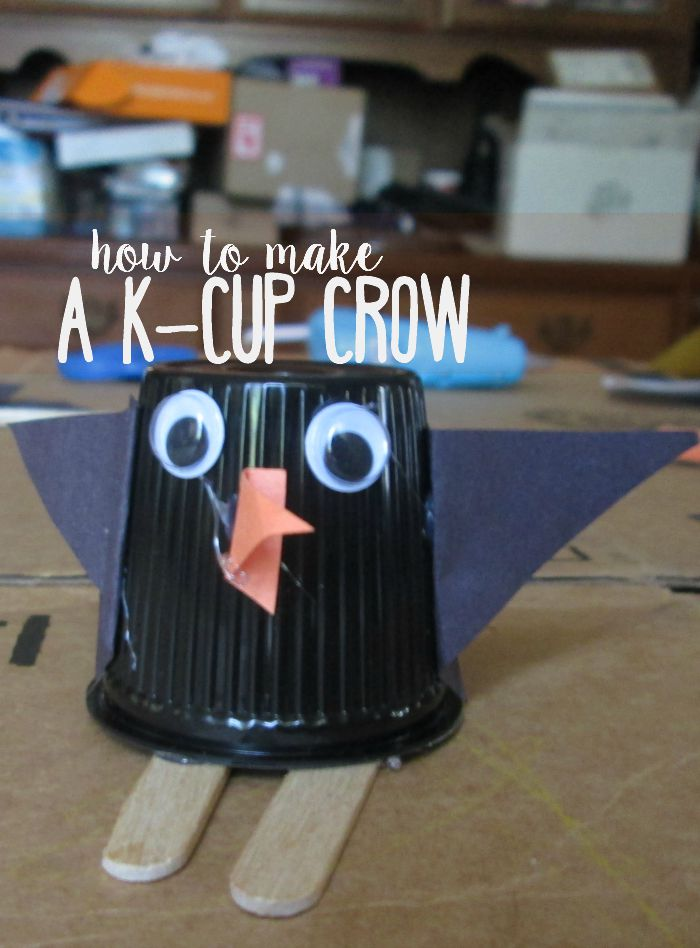 Find another use for the empty K-Cups and try out this easy K-Cup crow craft. Or penguin, whichever you may think he is.