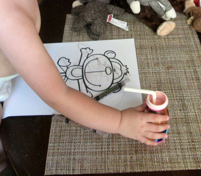 m is for monkey coloring