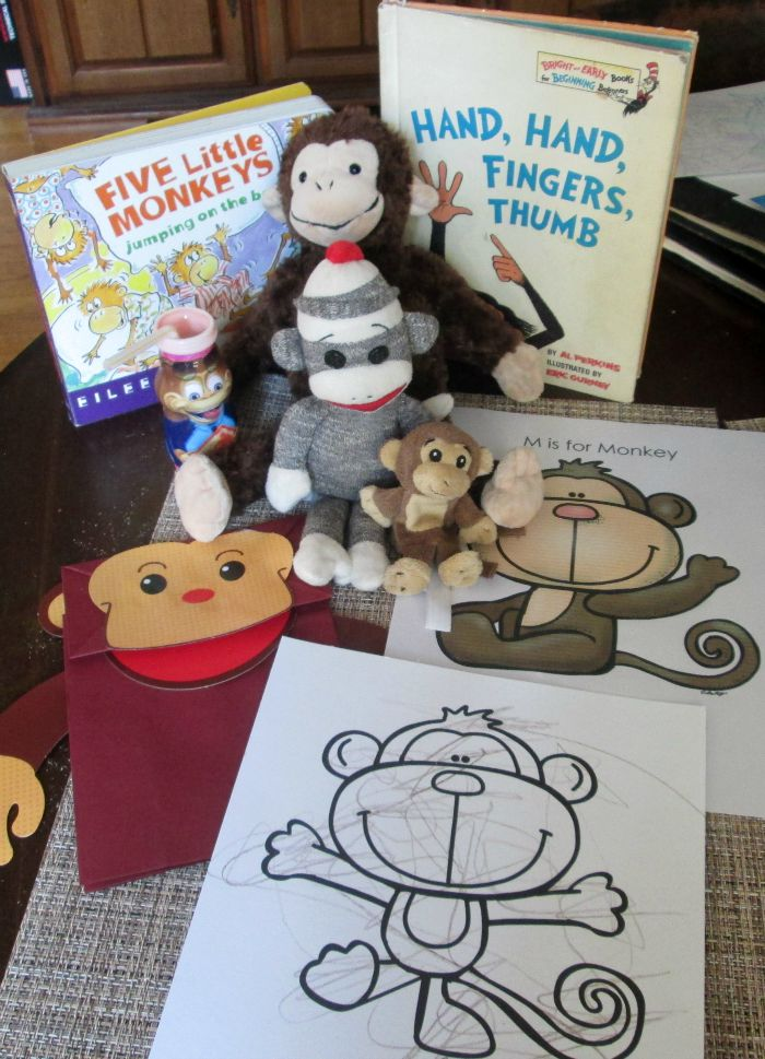 Do you have a child interested in monkeys or are you studying the letter M? We have a fun M is for Monkey tot school unit, with a free printable pack! #FuelTheirAdventures #CollectiveBias #Ad