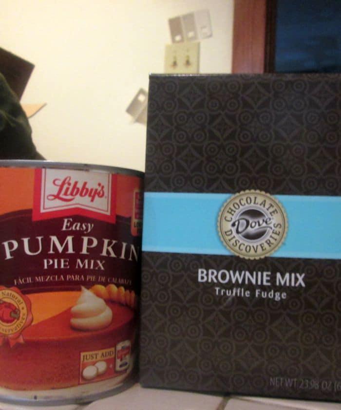 Pumpkin Fudge Brownies