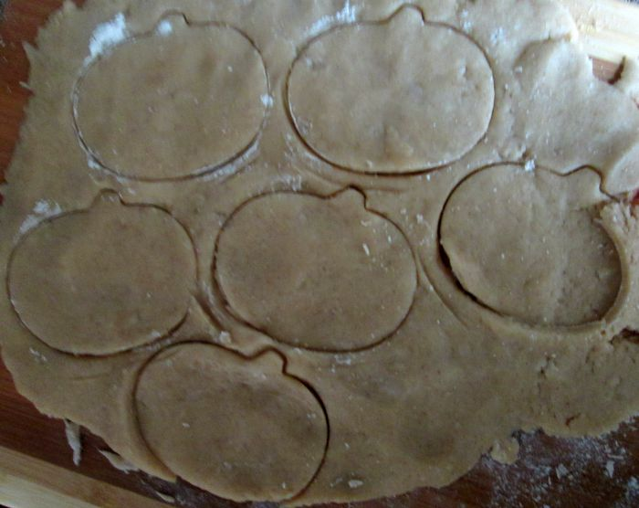 pumpkin pie sugar cookies raw