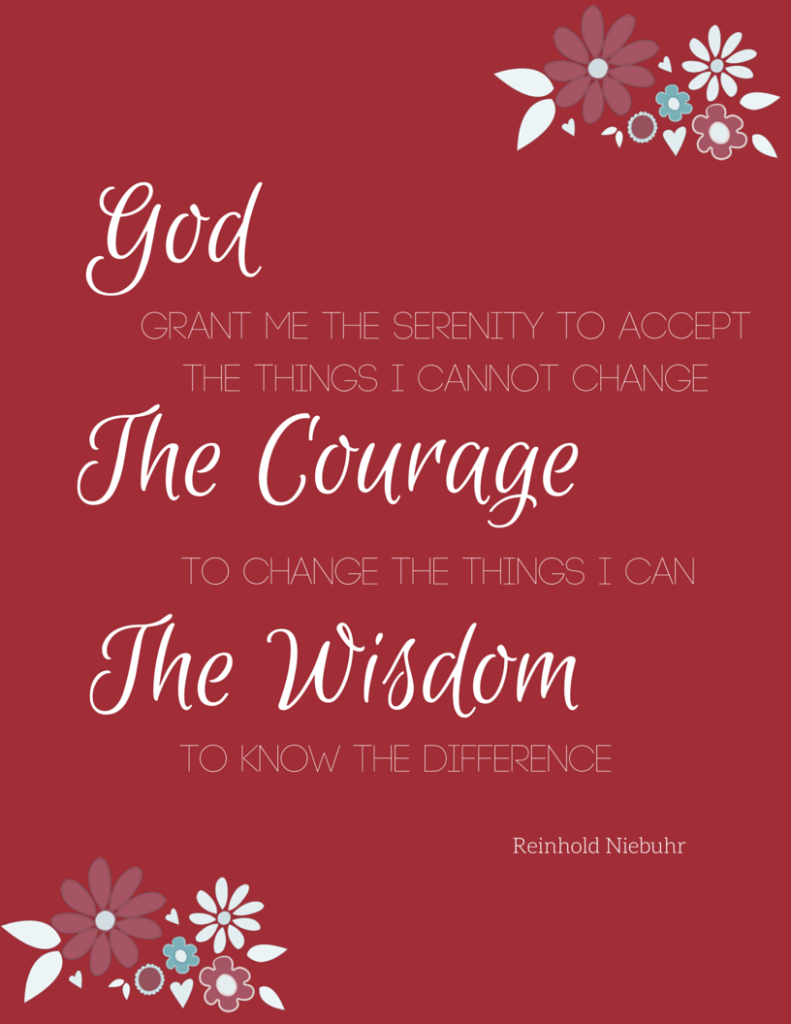 Download a free Serenity Prayer printable from Just Another Mom
