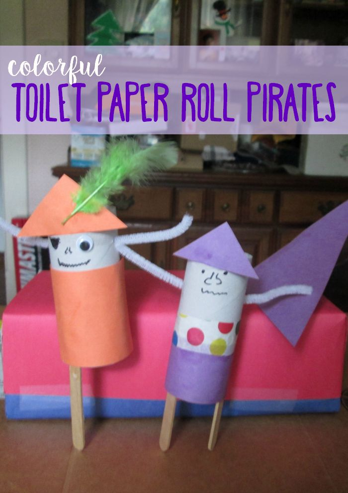 Ceebrate Talk Like a Pirate Day with this fun toilet paper roll pirate craft.