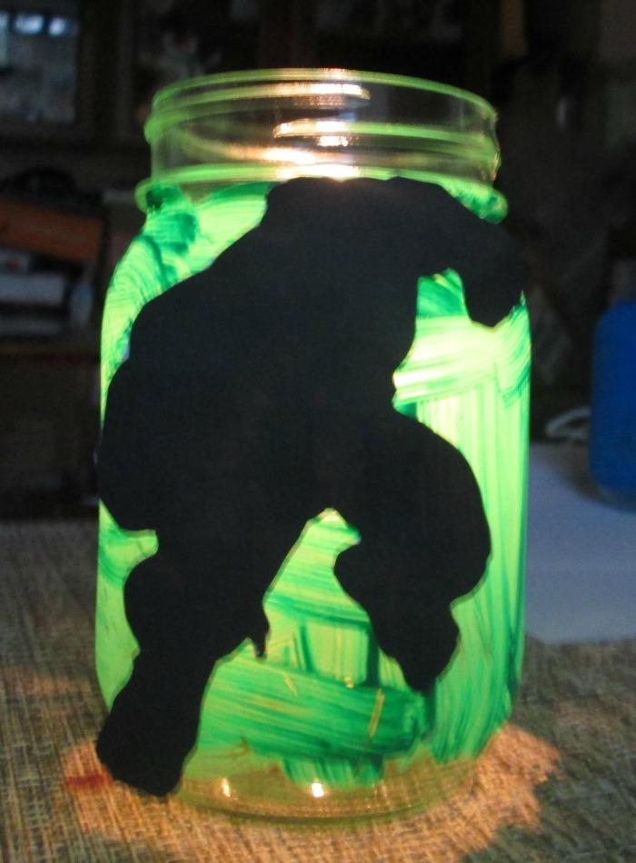 mason jar hulk lit up