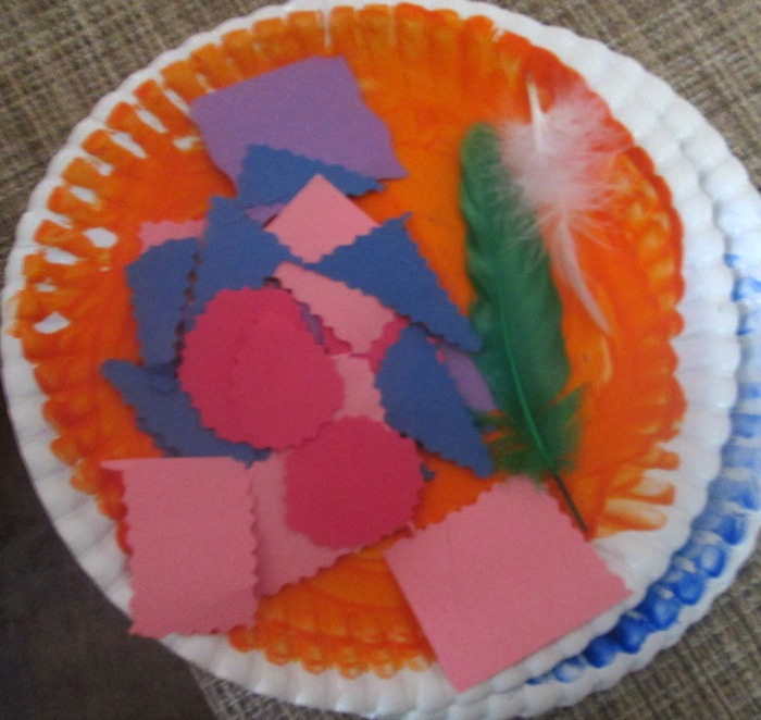 paper plate pumpkin supplies