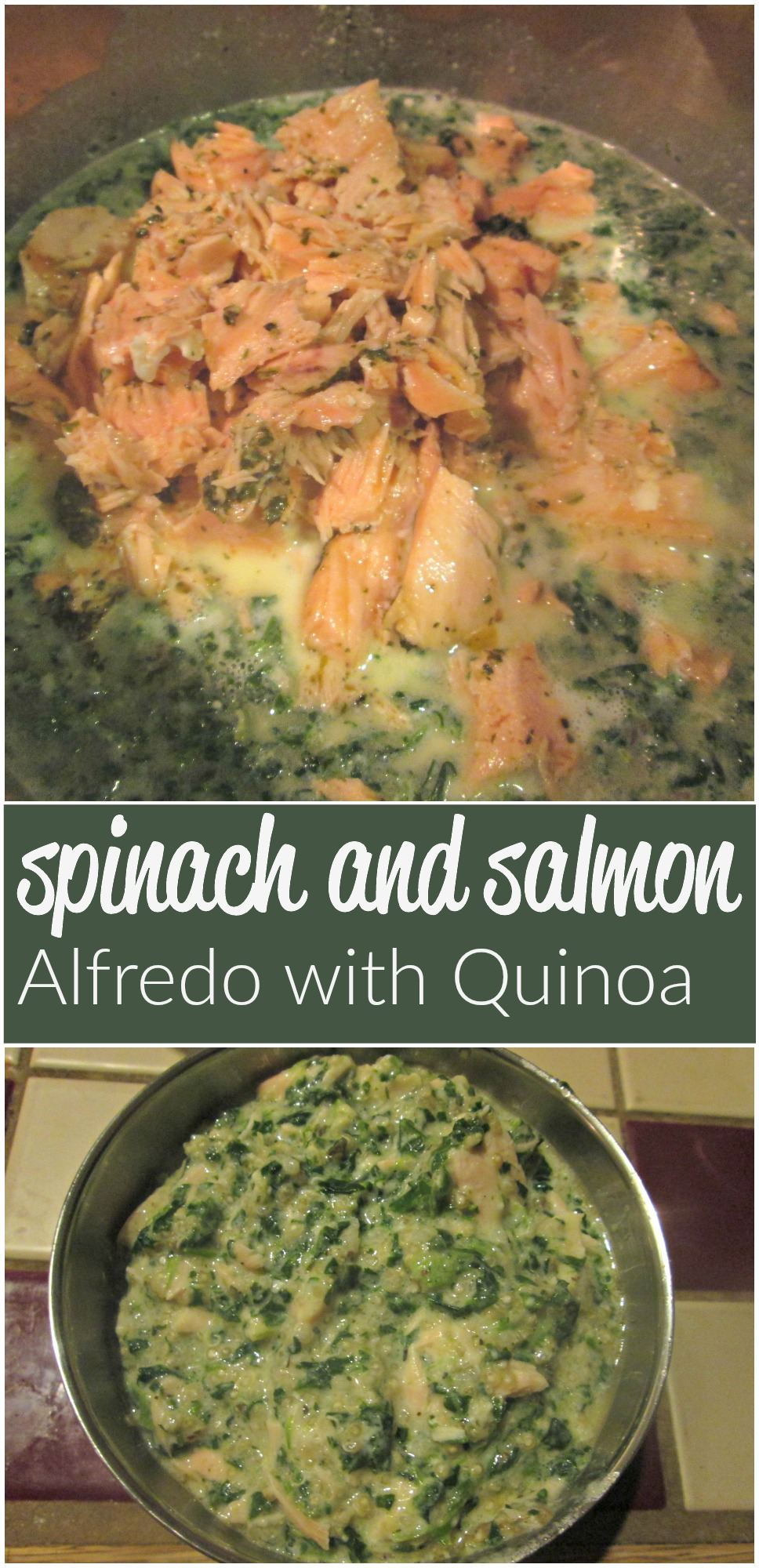 Looking for a fresh and fun meal idea? Try this tasty and delicious spinach and salmon Alfredo featuring @BumblebeeSuperFresh salmon. #BumbleBeeSuperFresh #Seafoodie