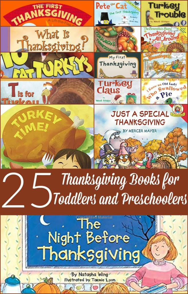 With Thanksgiving coming up for us, I searched for 25 Thanksgiving books for toddlers and preschoolers. Hope you find one that you like!