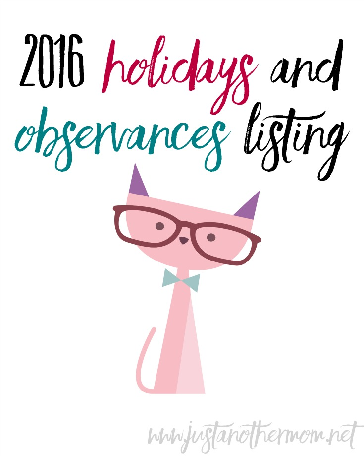 Do you enjoy learning about holidays and observances? This free printable pack, which features January through June, would be a great resource for bloggers, teachers, and homeschoolers alike.