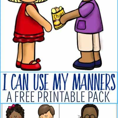 My Manners Printable Pack