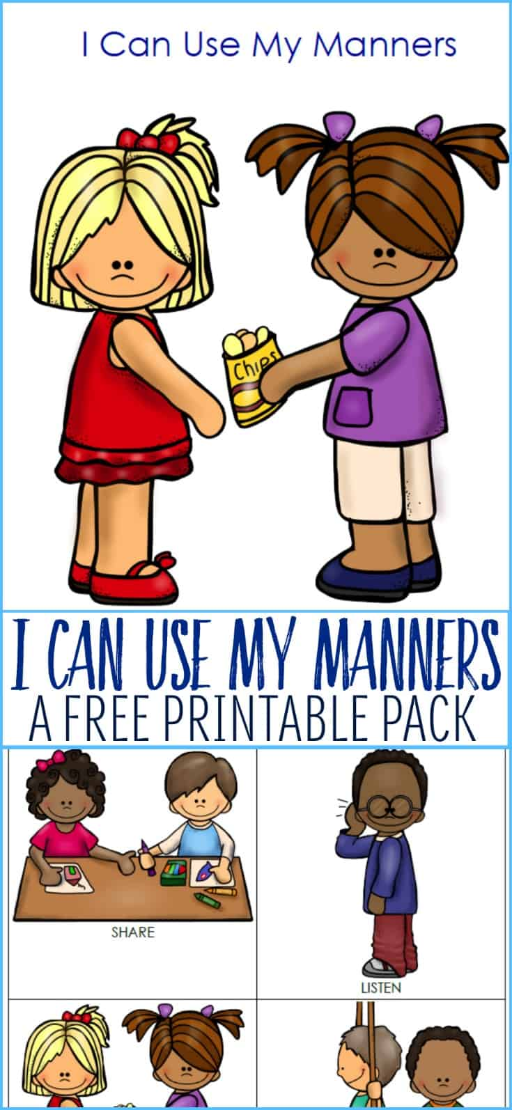 My Manners Printable Pack for Young Children