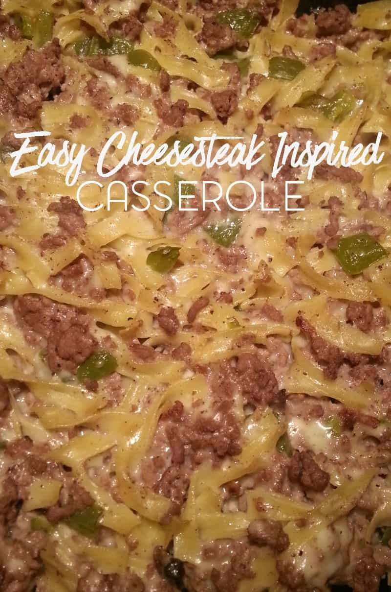 Easy Cheesesteak Inspired Casserole