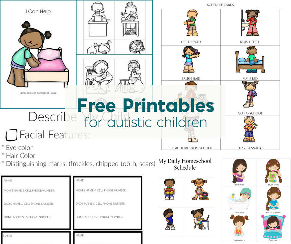 Free Printables For Autistic Children And Their Families Or Caregivers. Worksheet. Worksheets For Children With Autism At Clickcart.co