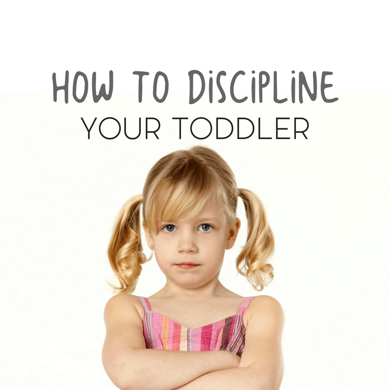 The key to effectively disciplining a toddler begins with the parents reaction.