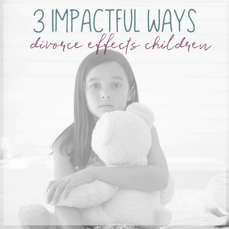 A divorce effects everyone involved, especially children. Here are 3 impactful ways divorce effects children and how divorce may effect their behavior.