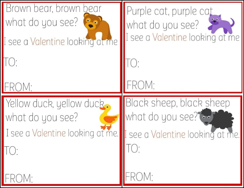 Free Brown Bear Brown Bear Valentine's Day Cards 1