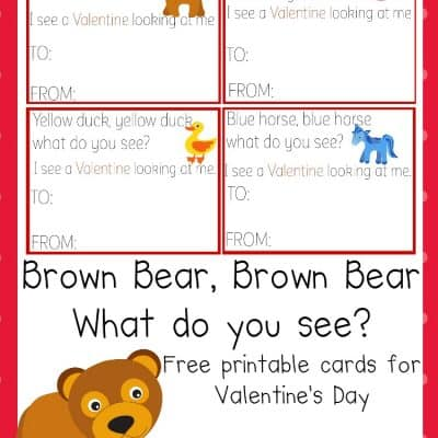 Free Brown Bear Brown Bear Valentine's Day Cards