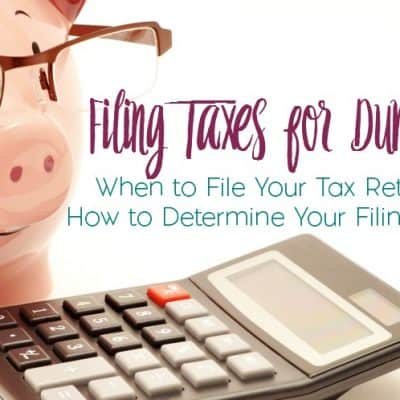 Filing Taxes for Dummies: When to File and Determining Your Filing Status